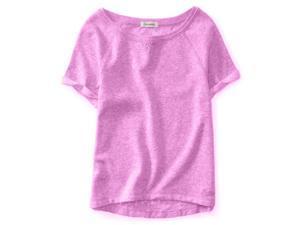 Aeropostale Womens Lace Back Basic T-Shirt 527 XL