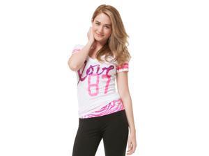 Aeropostale Womens 87 Graphic T-Shirt 102 XS