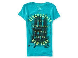 Aeropostale Womens Brooklyn Logo Graphic T-Shirt 491 M