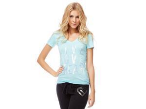 Aeropostale Womens Live love Dream Graphic T-Shirt 497 L