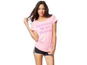 Aeropostale Womens Texting Is My Cardio Graphic T-Shirt 686 L