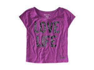 Aeropostale Womens Foil Love Life Graphic T-Shirt 541 XL