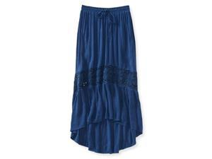 Aeropostale Womens Full Length Lace Insert Maxi Skirt 402 S