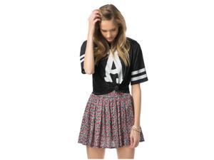 Aeropostale Womens Floral Skater Pleated Skirt 001 L
