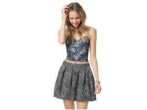 Aeropostale Womens Leopard Skater Pleated Skirt 001 XS