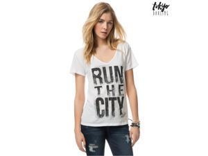 Aeropostale Womens Run The City Graphic T-Shirt 102 L