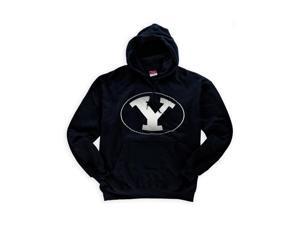 Champion Mens Brigham Young Hoodie Sweatshirt navy 2XL