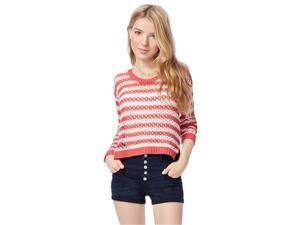 Aeropostale Womens Crochet Knit Sweater 600 XS