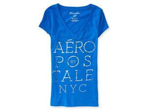 Aeropostale Womens Stacked Foil Graphic T-Shirt 471 XL