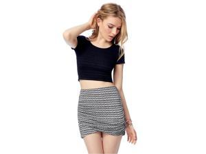 Aeropostale Womens Ruched Print Mini Skirt 047 L