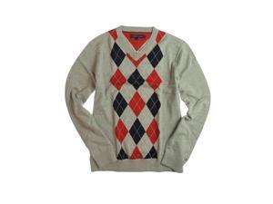 Tommy Hilfiger Mens Eby Argyle V-neck Knit Sweater 004 L