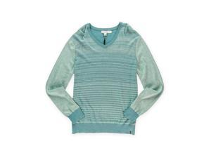 Calvin Klein Mens Striped Knit Pullover Sweater seafoamhtr L