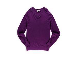 Calvin Klein Mens Modal V Neck Pullover Sweater leonpurplehtr 2XL