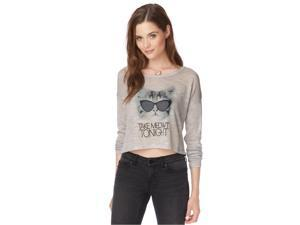 Aeropostale Womens Take Meowt Knit Sweater 097 XL