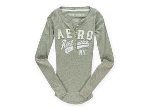 Aeropostale Womens Athletics Henley Graphic T-Shirt 052 S