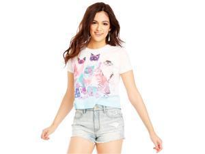 Aeropostale Womens X-Ray Kitten Graphic T-Shirt 102 XS