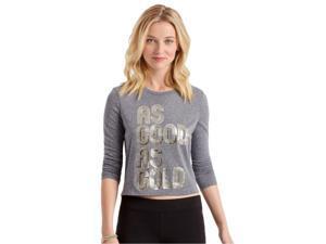 Aeropostale Womens As Good As Gold Graphic T-Shirt 001 XL