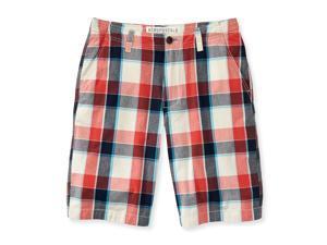 Aeropostale Mens Plaid Flat-Front Casual Bermuda Shorts 991 27