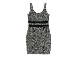 Material Girl Womens Mini Leopard Pencil Dress blackwhite M