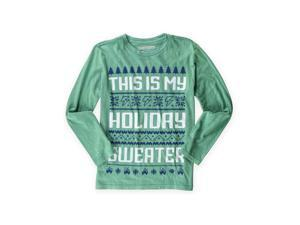 BROTHERS Boys Holiday Sweater Graphic T-Shirt 786 L