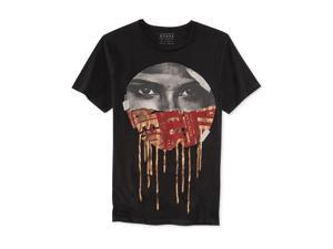 GUESS Mens Looking Eyes Graphic T-Shirt jetblack L