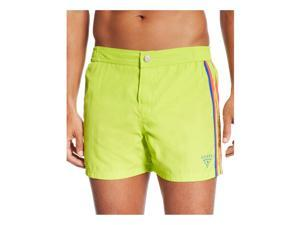 GUESS Mens Retro Swim Bottom Board Shorts greenbeat XL