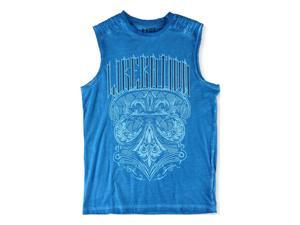 Helix Mens Dyed Muscle Tank Top seablue S
