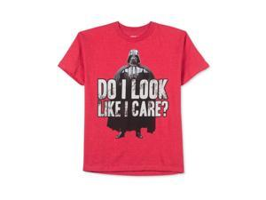 Star Wars Boys Do I Look Like I Care? Graphic T-Shirt redheather M