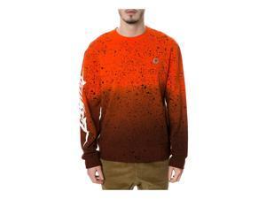 TrukFit Mens The Allover Speckle Sweatshirt tangerinetango M