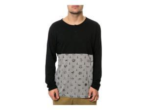 RVCA Mens The Benjamin LS Henley Shirt black XL