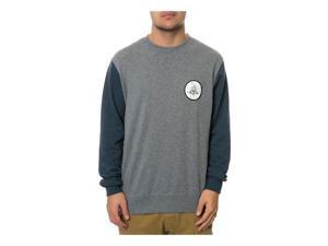 RVCA Mens The Freedom Or Death Sweatshirt midnightheathergrey S