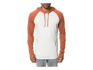 RVCA Mens The Castro Pullover Basic T-Shirt auburn S