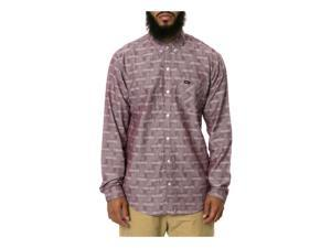 RVCA Mens The Ups And Downs Button Up Shirt fig S