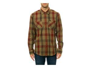 RVCA Mens The Warehouse LS Button Up Shirt armydrab S