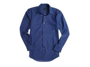 Van Heusen Mens Cvc Bc Fcy Button Up Shirt blumazarine S