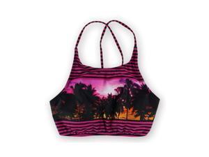 Roxy Womens Tropical Print Halter Swim Top mmw6 L