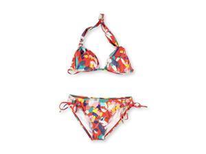Roxy Womens Fixed Boost Lowrider Side Tie 2 Piece Bikini flm S