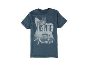 Fender Mens Built To Inspire Graphic T-Shirt navyheather S