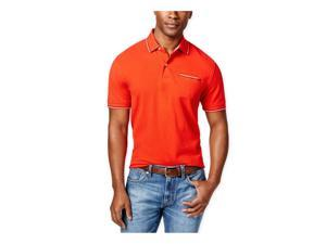 Tommy Hilfiger Mens Anthony Contrast-Trim Rugby Polo Shirt 611 L