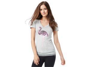 Aeropostale Womens Sequin Flamingo Embellished T-Shirt 052 XS