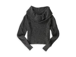 Mudd Womens Cowlneck Pullover Sweater asphalt XL