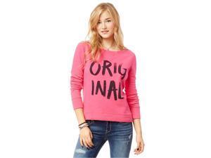 Aeropostale Womens Painted Cropped Sweatshirt 662 L