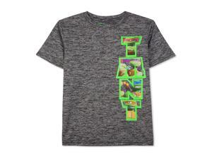 Nickelodeon Boys TMNT Vert Heathered Graphic T-Shirt blackwhite 2T
