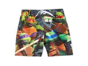Nickelodeon Boys Teenage Mutant Ninja Turtles Swim Bottom Board Shorts green 7