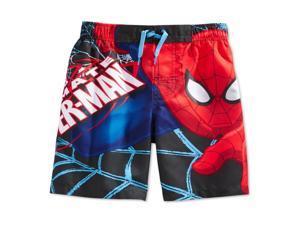 Marvel Comics Boys Spiderman Swim Bottom Trunks blue 5/6