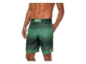 Nike Mens Wave Stripe-E Swim Bottom Board Shorts voltagegreen 2XL