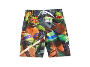 Nickelodeon Boys Teenage Mutant Ninja Turtles Swim Bottom Board Shorts green 4