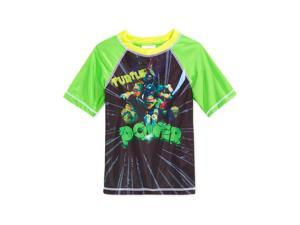 Nickelodeon Boys TMNT Rashguard Graphic T-Shirt green 4