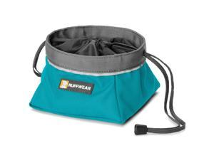 Ruffwear Quencher Cinch Top II Dog Bowl Collapsible Travel Pacific Blue Large
