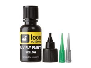 Loon Outdoors UV Fly Paint Yellow Fly Tying Resin for Fishing Cures in Seconds